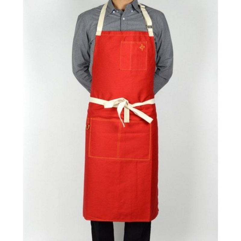 Heavy Duty Aprons : Boldric heavy duty canvas apron red