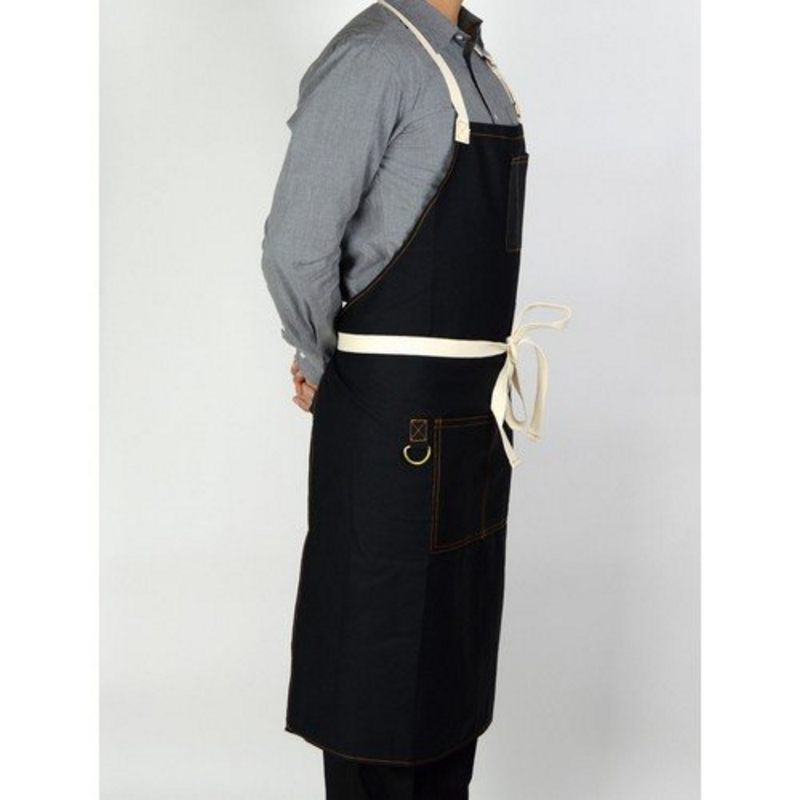 Heavy Duty Aprons : Boldric heavy duty canvas apron black